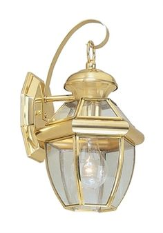 New Livex Monterey 1 light Outdoor Wall Sconce Lighting Fixture In Polished Brass Finish With Clear Flat Glass By Rugs And Lighting Item: Outdoor Wall Lighting. 1 x 60 Watts Bulbs. Outdoor Sconce Lighting, Livex Lighting, Outdoor Wall Lantern, Outdoor Wall Lighting, Wall Sconce Lighting, Outdoor Walls, Wall Sconces, Outdoor Areas, Globe Lights