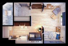 Дизайн квартиры-студии 24 кв.м - Дизайн интерьеров   Идеи вашего дома   Lodgers