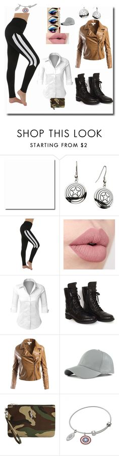 """Female Captain America"" by angel-oasis on Polyvore featuring Marvel, Electric Yoga, LE3NO, Chanel, Sans Souci, WithChic and Yves Saint Laurent"