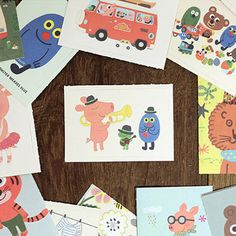 Cute Label Stickers  Daisy / 48 sheets 1.8 x by WonderlandRoom