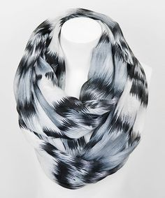 Leto Collection Black Watercolor Infinity Scarf by Leto Collection #zulily #zulilyfinds