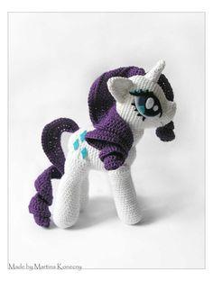 Rarity - Cute Handmade Crochet Dolls Toys by Martina