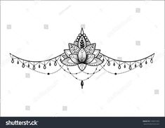 Lotus ornament stock vector (royalty free) 518921593 – Everything for Tattoo Tattoos To Cover Scars, Back Tattoos, Mini Tattoos, Leg Tattoos, Small Tattoos, Sleeve Tattoos, Tatoos, Mandala Tattoo Design, Henna Tattoo Designs