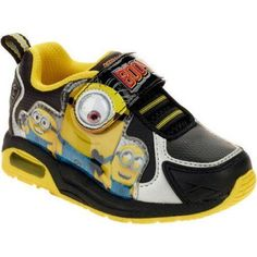 Minions Toddler Boys Lightweight Athletic Shoe, Toddler Boy's, Size: 11, Black
