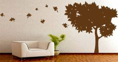 Decorative and trendy summer tree wall decal.  Visit this link for more designs: https://limelight-vinyl.myshopify.com/