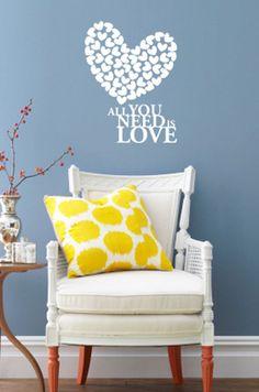 Vinilo Adhesivo Love Blanco Large - Varios Colores en DeluxeBuys!