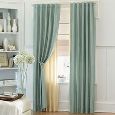 canopy bed drapes types of curtains home garden ideas choosing the appropriate type of curtains is an exciting decision as it will surely bestow an added Window Curtain Designs, Small Window Curtains, Cheap Curtains, Green Curtains, Cool Curtains, Curtains With Blinds, Small Windows, Curtain Ideas, Beige Curtains