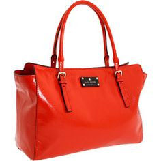 Love this bright orange tote by Kate Spade!