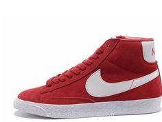 6ce34eaa10d08 Prime Vintage Suede Gym Nike Blazer Femmes Rouge-blanc Chaussure Nike Blazer  Femme Toutes Les