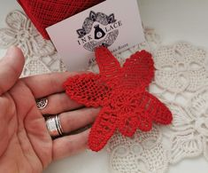 Romanian Point Lace Tutorial RED Orchid Flower- Instant Download