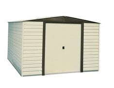 Arrow VD1012-D1 Vinyl Coated Dallas 10-Feet by 12-Feet Steel Storage Shed