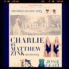 Shop Charlie Resort 2013! @Moda Operandi / Charlie by Matthew Zink / RESORT 2013 / Exclusive Trunk Show - 7 days only