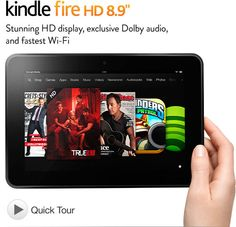 "Kindle Fire HD 8.9"", Dolby Audio, Dual-Band Wi-Fi, 16 GB"