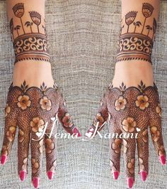 Best 12 Mehndi henna designs are always searchable by Pakistani women and girls. Women, girls and also kids apply henna on their hands, feet and also on neck to look more gorgeous and traditional. Henna Art Designs, Mehndi Designs For Girls, Indian Mehndi Designs, Mehndi Designs 2018, Stylish Mehndi Designs, Mehndi Designs For Fingers, Wedding Mehndi Designs, Mehandi Designs, Wedding Henna