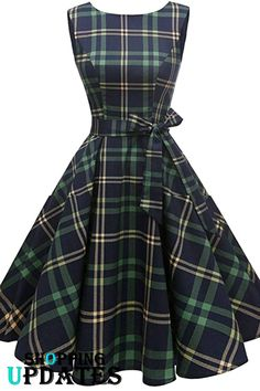 Looking for Hanpceirs Women's Boatneck Sleeveless Swing Vintage Cocktail Dress Greenplaid ? Check out our picks for the Hanpceirs Women's Boatneck Sleeveless Swing Vintage Cocktail Dress Greenplaid from the popular stores - all in one. Flattering Dresses, Stylish Dresses, Simple Dresses, Cute Dresses, Vintage Dresses, Beautiful Dresses, 1950s Dresses, Vintage Inspired Dresses, Vintage Clothing