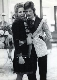 David Bowie and his wife of ten years, Angie 70s.