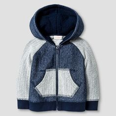 W16 Baby Boys Texture Hoodie with Sherpa Hood Lining; Cat & Jack $6.99