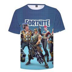 Fortnite 3d Impreso Camisetas Manga Corta Tops De Verano
