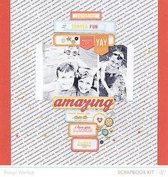 Amazing Summer Layout by Robyn Werlich using the July Kits at @Studio Calico