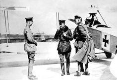 Kurt Wolff, Manfred von Richthofen and Lothar von Richthofen