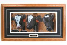 `More Milk Please` 35 x 20 Framed Print by Jerry Gadamus