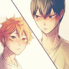 haikyuu, kagehina, and anime image
