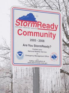 How to Become StormReady® Community - To be officially StormReady, a community must:  Establish a 24-hour warning point and EOC. Have more than one way to receive severe #weather warnings and forecasts and to alert the public. Create a system that monitors weather conditions locally. Promote the importance of public readiness through community seminars. Develop a formal hazardous weather plan, which includes training severe weather spotters and holding emergency exercises.