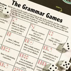 Learning grammar CAN be fun! This student-centered grammar board game is great for the end of the qu Grammar Games, Grammar And Punctuation, Teaching Grammar, Grammar Lessons, Teaching English, Grammar Review, Writing Lessons, Teaching Writing, Basic Grammar