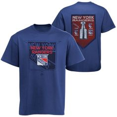 NHL Majestic New York Rangers Conquest Short Sleeve T-Shirt