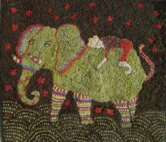 Sharon Smith's rugs are SO whimsical!