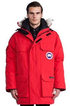 Canada Goose chateau parka outlet 2016 - Leather trim, denim accents and the famous Red.Canada Goose #Vest ...