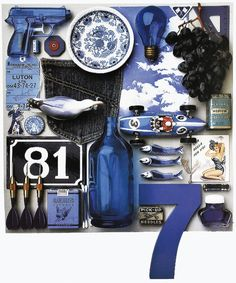 Blue (July)  Ensemble in Color calendar 1992.  Photographs by Guido Cecere.