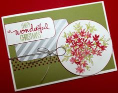 Awesomely Artistic, Wondrous Wreath and Perfect Pennants Christmas Card with Mojo Monday Sketch 419 using Stampin' Up! Products #stampinup for a full details please visit my blog http://ellenthehappystamper.blogspot.com.au