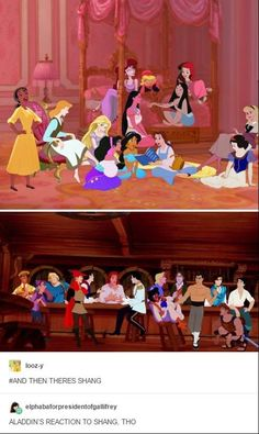 "Disney princesse's and Prince's ""Hanging Out""! Disney Pixar, Walt Disney, Disney Marvel, Disney Animation, Disney Jokes, Funny Disney Memes, Disney Fan Art, Cute Disney, Disney Girls"