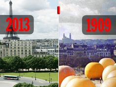 Paris 1900-2013in photos: before and after - love these. (Rue89)