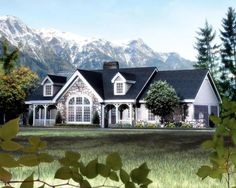 House Plan 87808 | Cape Cod Cottage Country Ranch Vacation Victorian Plan with 1568 Sq. Ft., 2 Bedrooms, 2 Bathrooms, 3 Car Garage at family home plans
