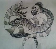 Beetlejuice vs Sandworm by DeathlyToxicity.deviantart.com on @deviantART