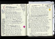 Bozza manoscritta de Il Re Pallido, di David Foster Wallace  http://totallyunnecessaryproduction.tumblr.com