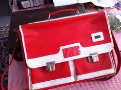 Marktplaats.nl - Retro vintage tas, schooltas met vakken. Nieuw! - Tassen   Damestassen