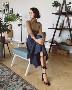 65 casual summer work outfits for professionals 2019 page 23 - Outfits Women Curvy Outfits, Mode Outfits, Modest Work Outfits, Casual Outfits, Classic Outfits, Casual Dresses, Work Fashion, Modest Fashion, Classy Fashion