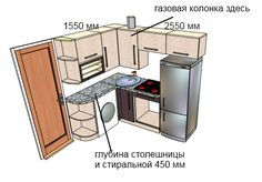 дизайн маленькой угловой кухни газовой колонкой 6 кв.м. - Поиск в Google