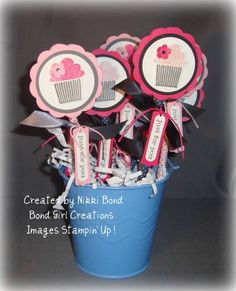 cupcake pencil toppers by scrapaholicbond26 - Cards and Paper Crafts at Splitcoaststampers
