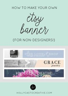 How to Make Your Own Etsy Banner | Quick & Simple Tutorial For Non-Designers #FinanceBanner