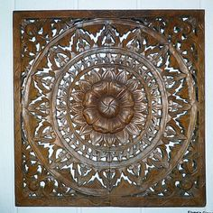 This is a beautiful hand-carved teak wood wall relief panel, meaning that the… Wood Panel Walls, Wood Wall, Accent Wall Panels, House Wall, Teak Wood, Interior Inspiration, Hand Carved, Wall Decor