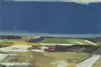 View over fields winter by Svend Engelund