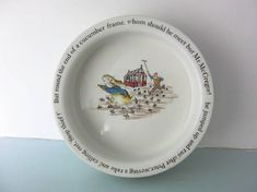 Vintage Peter rabbit children's plate peter rabbit bowl Rabbit Book, Christening Gifts, Peter Rabbit, Beatrix Potter, Wedgwood, Little People, Baby Shower Gifts, Cool Pictures, Decorative Plates