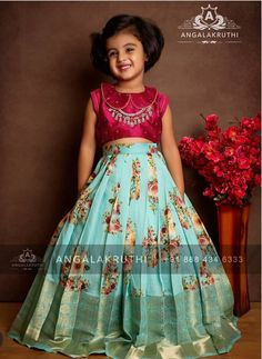 Girls Frock Design, Baby Dress Design, Kids Lehanga Design, Kids Dress Wear, Kids Gown, Baby Frocks Designs, Kids Frocks Design, Frocks For Girls, Dresses Kids Girl