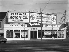 Late 1940's - Boas Pontiac Dealership, 3800 Geary Blvd., San Francisco