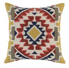 Main Image - Villa Home Collection Zabah Accent Pillow Bohemian Decoration, Accent Pillows, Throw Pillows, Outdoor Fabric, Home Collections, Decorative Pillows, Cross Stitch, Cushions, Vibrant