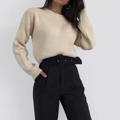 office outfits for young professionals Cute Casual Outfits, Girly Outfits, Mode Outfits, Korean Outfits, Office Outfits, Chic Outfits, School Outfits, Fashion Mode, Look Fashion